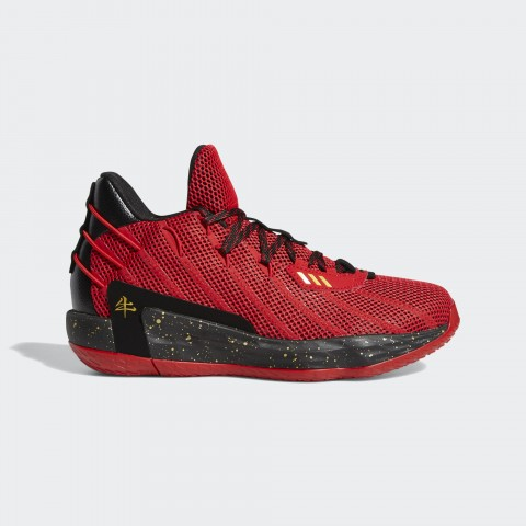 Adidas Dame 7 CNY Schuhe - Rot FY3442